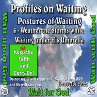 Profiles on Waiting – Posture – Weather the Storms while Waiting under His Umbrella