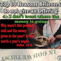 Top Reasons People do not give Offerings – 4 – I don't agree with where the Money is going