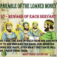 Parable of the Loaned Money – 10 – Reward of each Servant