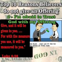 Top Reasons People do not give Offerings – 2 – I'm afraid to Trust God with my Offering