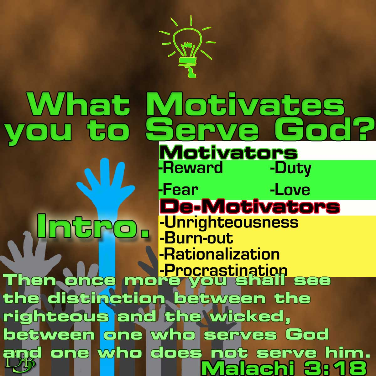 Image result for serving God out of love, not duty