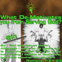 What de-motivates you from Serving God? – 7 – Sin