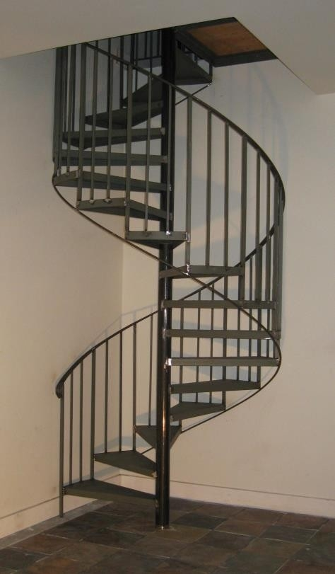 More Stairs Southern Spiral Stairs | Spiral Staircase 2 Floors | 8 Ft | Interesting | Spiral Shaped | Outdoor | Wooden