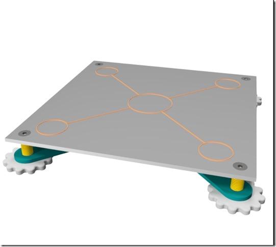 Teste plateau d'une imprimante 3D