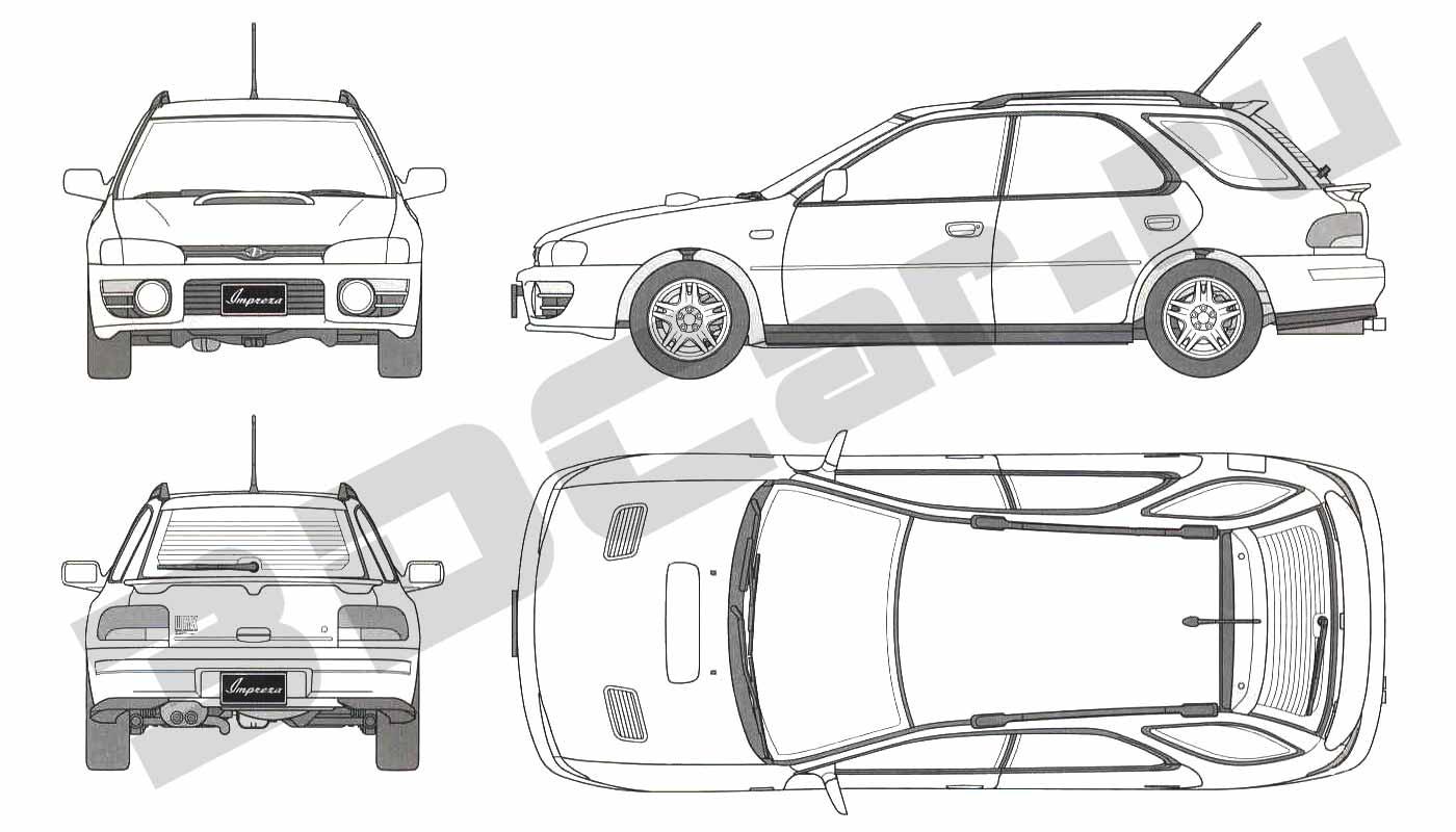 Subaru Impreza Wrx Wagon 3dcar