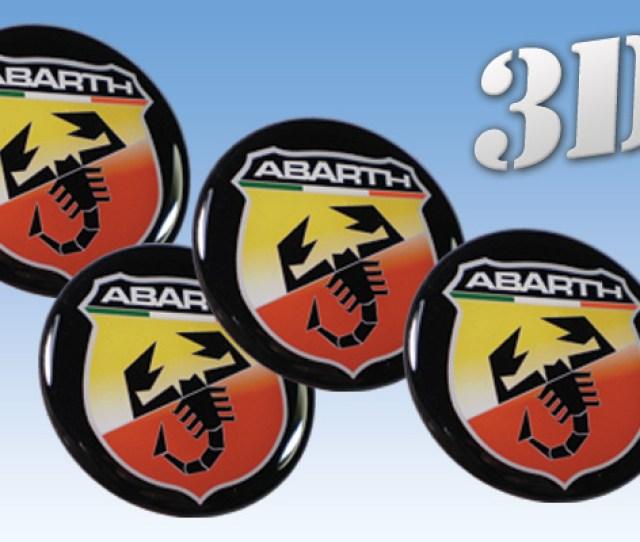 Abarth D Car Decals For Wheel Center Caps  E   Online Shop D Wheel Center Caps