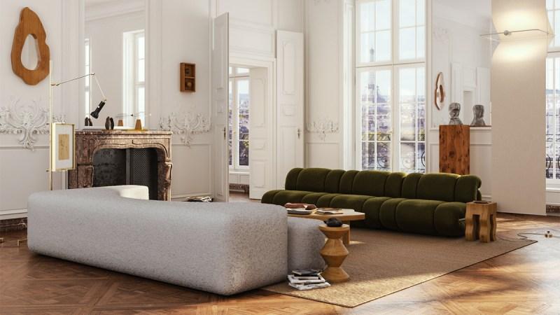 Rendering appartamento a Parigi