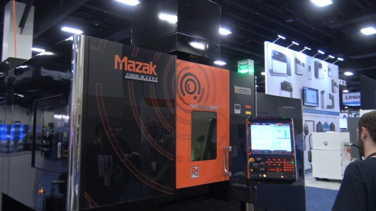 Mazak Hybrid CNC at Rapid Event + TCT