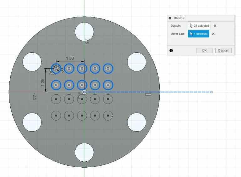 Fusion 360 Tutorial-Circular Pattern-Rectangular Pattern 24