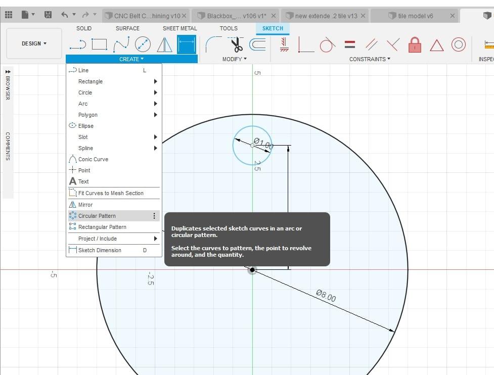 Fusion 360 Tutorial-Circular Pattern-Rectangular Pattern 4
