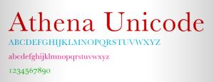Athena_font