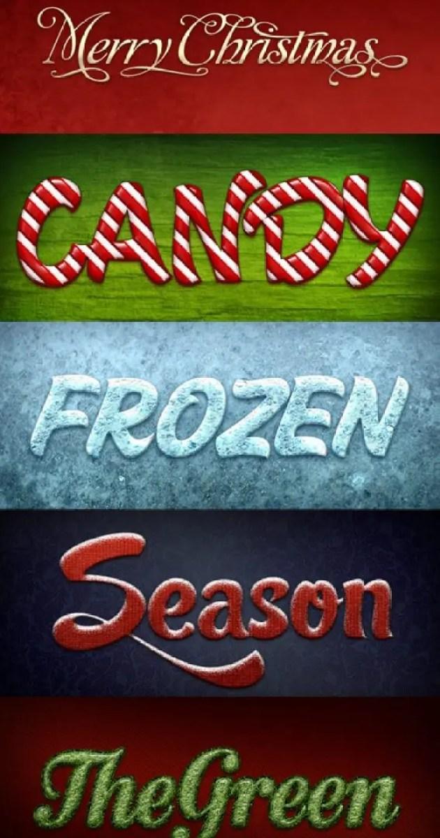 Estilos de texto navideños