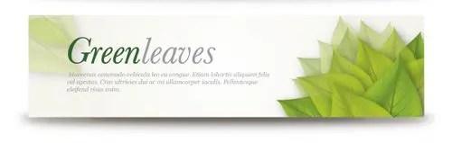 Banners de aspecto ecológico gratis