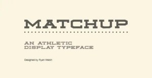 matchup-free-font