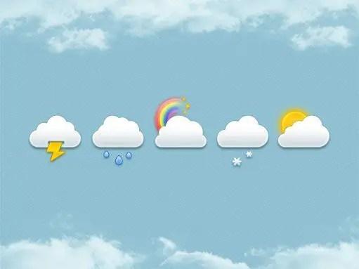 Pack de nubes en PSD, gratis