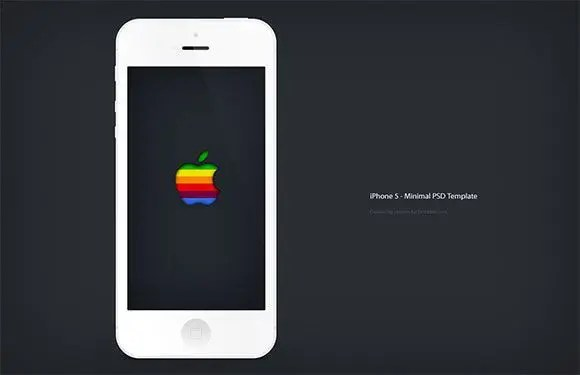 iphone5-minimal-psd-mockup