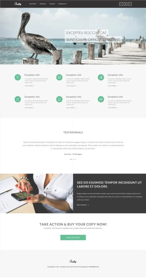 Crafty - Plantilla HTML5 responsive