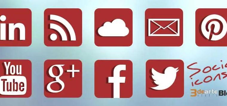 Set de iconos sociales gratis