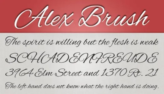 Alex Brush fuente gratis