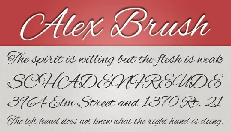 Alex Brush fuente gratis