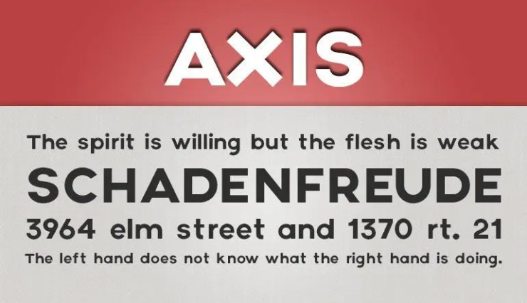 Axis fuente gratis