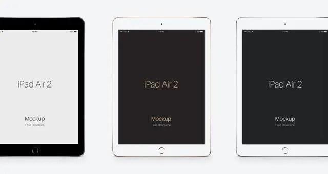 Mockup en PSD del nuevo iPad Air 2