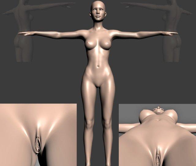 Naked Girl Modelo 3d