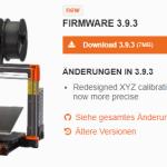 Prusa Firmware 3.9.3 veröffentlicht