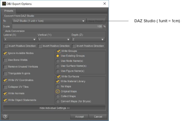DAZ Studio(1unit=1cm)