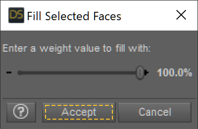 Fill Selected Faces