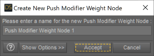 Create New Push Modifier Weight Node