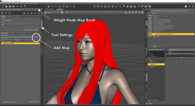 Weight Node Map Brush に切り替える