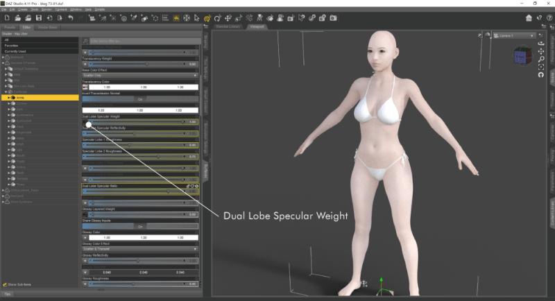 Dual Lobe Specular Weightにスペキュラマップを貼る