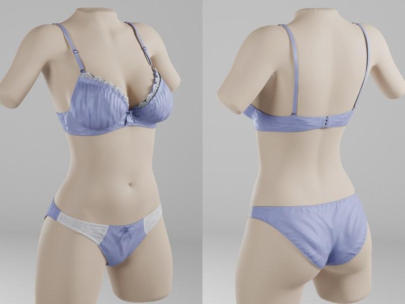 ブラ・パンティーの3Dモデル