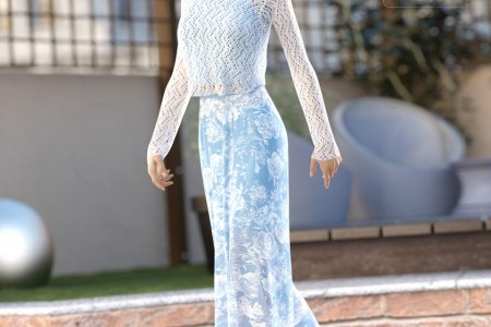 dForce Sunday Afternoon Outfit for Genesis 8 Female