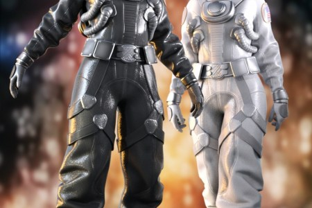 Space Suit Outfit for Genesis 8 Female