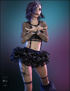 3dmodel outfit gothic dazstudio daz3d