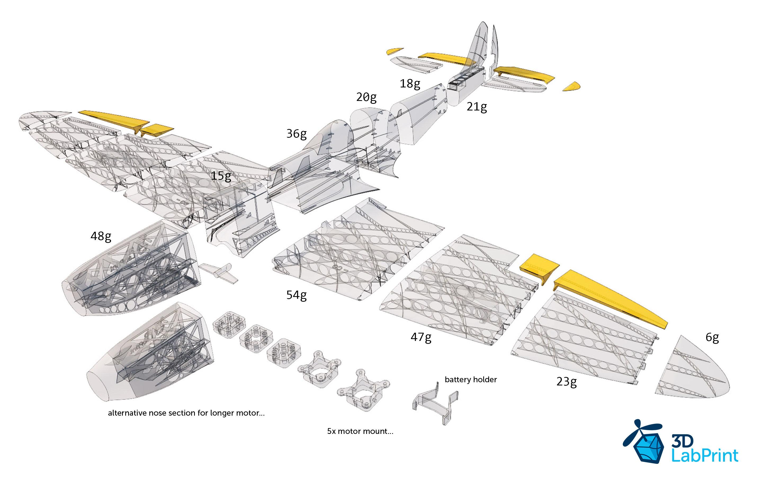 Spitfire Mk Xvi 3dlabprint