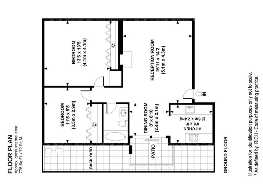 Cost 3D/2D Floor Plan Design Services In India