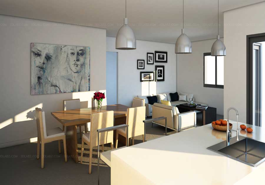 3D Interior Rendering Charges