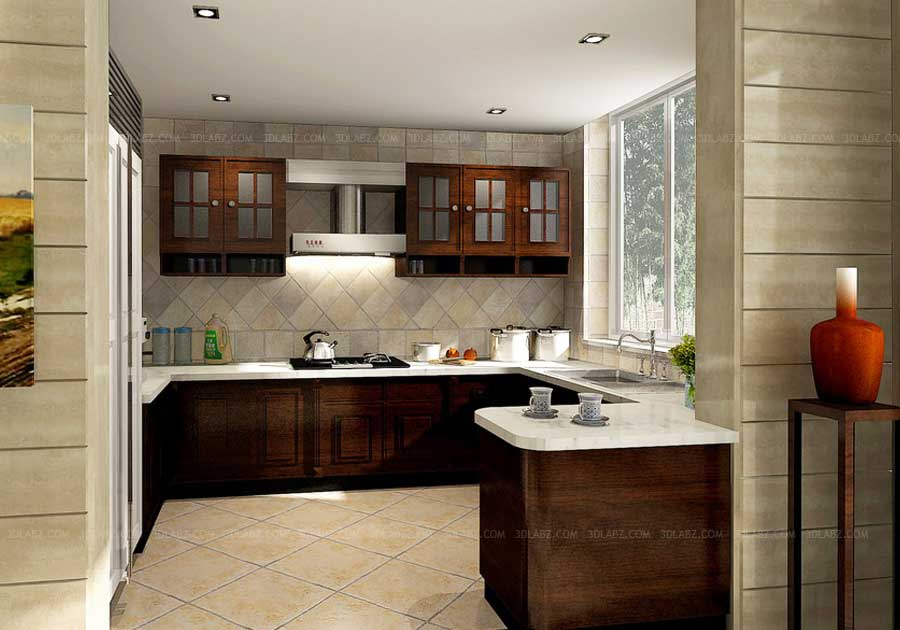 Cost Kitchen Design 3D View India