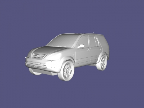Honda CRV Free 3d Model Download Obj File