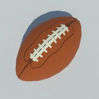 American Football Ball Low Poly 3D Model - Realtime