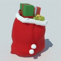 Christmas Gifts Bag 3D Model - Realtime
