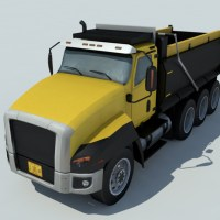 Dump Truck 3D Model - Realtime