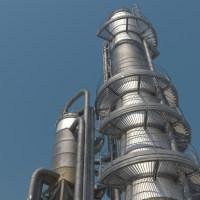 Crude Oil Unit 3D Model