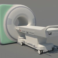 MRI Machine 3D Model CT Scan - Realtime