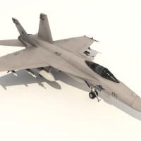 FA18 Super Hornet 3D Model