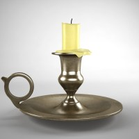 Old Brass Candlestick 3D Model
