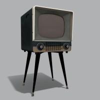 Retro Television Set PBR 3D Model